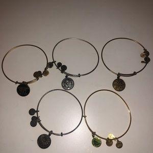 5 Alex & Ani Bracelets